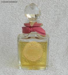 'La Rose Jacqueminot'(bottle 1906), in its famous bottle designed by Baccarat./Iwas the first of Coty's truly great perfumes./eBay.uk/