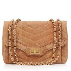 Chanel Cork Leather Handbag