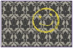 Sherlock Wallpaper - Counted Cross Stitch Pattern by HornswoggleStore, $5.00 (Sherlock Holmes, Benedict Cumberbatch, BBC, TV, geek, nerd)