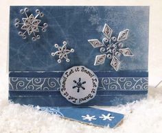 From an old CardMaker magazine. Great basic quilled snowflake designs.