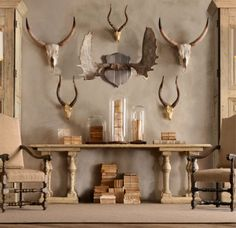 this is a more attractive way to do hubby's hunting wall...