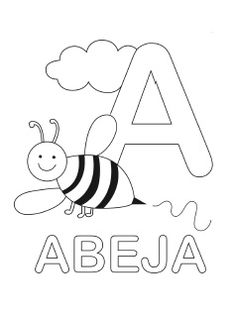 Spanish Alphabet Coloring Pages Upper Lowercase