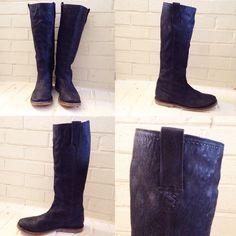 Frye tall boots Tall black frye boots. Only worn a few times Frye Shoes Combat & Moto Boots