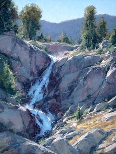 "Matt Smith ~ ""Inyo Falls"" (oil, 24x18)"