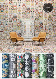 ARCHIVES Wallpaper by Studio Job for Dutch brand NLXL http://www.yatzer.com/best-of-milan-design-week-2014