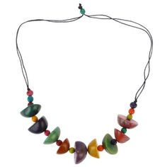 Kette Half Nuts, Tagua, multicoloured