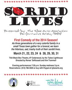 Sordid Lives - Presented by Tybee Arts Association