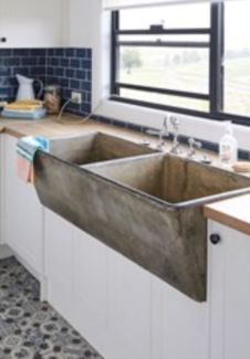Well Kept Traditional Concrete Trough Double Basin Available For