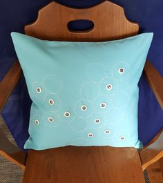 This Pillow Cover is handmade using Tiffany blue cotton and adorned with vintage polymor buttons that have a faux metal inlay. The hand stitching is inspired by the shashiko style. Blue Pillow Covers, Vintage Buttons, Tiffany Blue, Hand Stitching, Trending Outfits, Etsy Seller, Unique Jewelry, Handmade Gifts, Throw Pillows