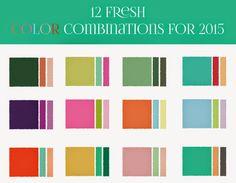 CARAMELO DE CROCHET: Palette-pantone 2015