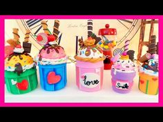 DIY crafts how to ice cream cupcake with EVA foam recycled glass jars - handmade - Youtube - Isa ❤️ - YouTube