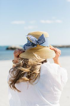 adorable straw hat for summer with blue gingham bow ribbon Summer Breeze, Summer Beach, Summer Blues, Sunny Beach, Summer Days, Blue Beach, Beach Bum, Summer Colors, Summer Fun