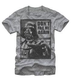 Star Wars Darth Vader Don't Fail Me Again T-Shirt #empire #vader #sith