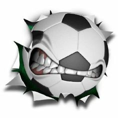 "Amazon.com: 12"" mean soccer ball logo Wall Graphic Decal Game Room Decor Sticker Window Art Cling NEW !!: Sports & Outdoors"