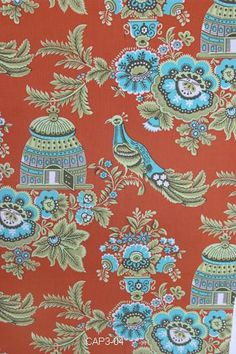 Amy Butler Fabric - Royal Garden in Clay from Belle