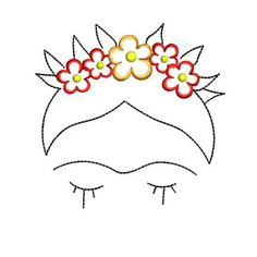Frida Kahlo Instant Download Machine Embroidery Designs