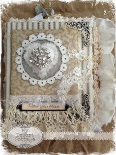 """**My Desert Cottage**: """"Follow Your Heart"""" Fabric Book Would be great to make a book with my favorite fabric swatches and what I have made from them!! Great memory keeper!!"""