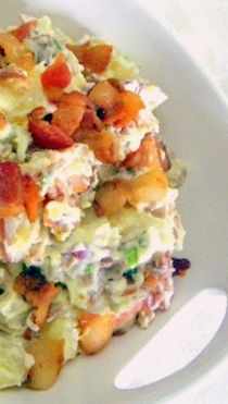 Loaded Potato Salad ala Everyday Mom's Meals... Now this is FULL... BACON BACON BACON BACON and more... cheesy and delicious!