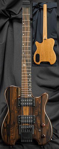 Kiesel Guitars HH2 Allan Holdsworth Signature Headless Guitar Serial Number 136420