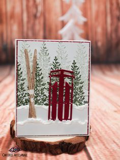Scrapbook Cards, Scrapbooking, Alpine Adventure, Christmas Cards, Christmas Ideas, Artisanal, Stampin Up Cards, Paper Cutting, Making Ideas