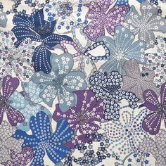 Tissu  liberty mauvey bleu