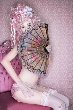 cool cool cool, pink, awesome pose with props, hair, outift, Audrey Kitching by…