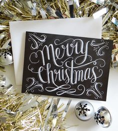 Merry Christmas Chalkboard Cards