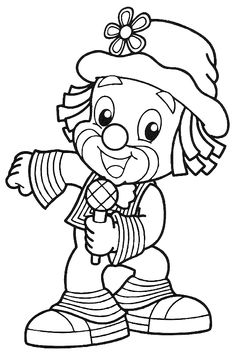 Clown Coloring Pages Coloring pages for kids to print Last