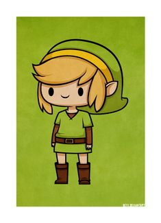 "Link from ""The Legend of Zelda : A Link to the Past"" art by : beyx.deviantart.com"