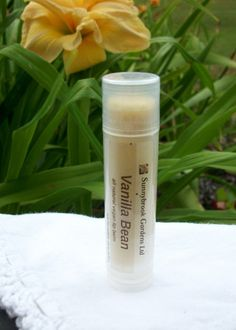 Vanilla Bean Lip Balm, handcrafted, all natural, vegan friendly, cruelty free