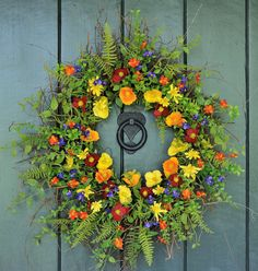 Summer Sizzle - Summer Wildflower Wreath, Summer Wreath, Summer Decor, Garden Party, Spring Wreath, Spring