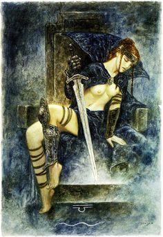 Minor Arcana / Swords / Queen of Swords (Luis Royo)