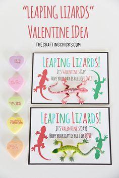 Lizard Valentine Free Printable on www.thecraftingchicks.com
