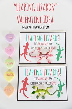 Leaping Lizard Valentine *Free Printable