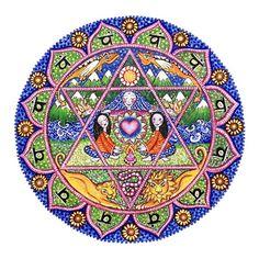 4. vierte Chakra Mandala Kunstdruck Wand Dekor spirituelle Meditation Yoga Anahata Heilung Herz Chakra-Kunst