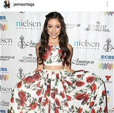 Disney Star Jenna Ortega wearing Alora Safari on the red carpet.