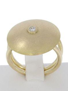 WERT 1.350,- HINGUCKER 750 / 18 KT GOLD BRILLANT SOLITÄR RING GR 55 UNIKAT in Uhren & Schmuck, Unikate & Goldschmiedearbeiten, Ringe | eBay