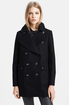 Burberry Brit 'Bellamy' Double Breasted Peacoat @Nordstrom