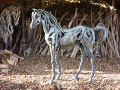 My favorite horse sculpture was a large whisper thin one I saw over 20 years ago, cannot  remember the artist.