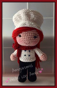 Chef amigurumi https://www.facebook.com/Amigurumishechoconamor