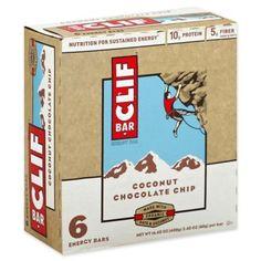 b3d7c0fdf Clif Bar 6-Pack 2.4 Oz. Coconut Chocolate Chip Energy Bar Barras De Cereais