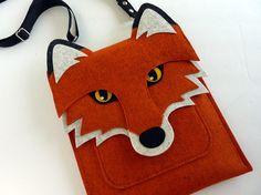 iPad mini felt case Fox in rusty felt van BoutiqueID op Etsy