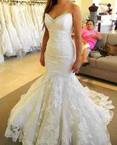 Cheap lace mermaid wedding dress, Buy Quality mermaid wedding dresses directly from China wedding dress Suppliers: Lace Mermaid Wedding Dresses 2017 Sweetheart Ruffles Real Picture Crystal Ivory Bridal Gowns Custom Made Open Back Lace-up Dress Wedding Dress Mermaid Lace, Sweetheart Wedding Dress, Mermaid Dresses, Bridal Lace, Lace Wedding, Dress Lace, Mermaid Sweetheart, Trendy Wedding, Wedding Dresses With Bling