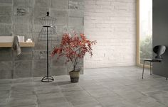 [ Younhyun Tile / 윤현상재 타일 ] Vintage Tile : Urban Avenue Full Grey / Size (cm) : 20.4x40.8