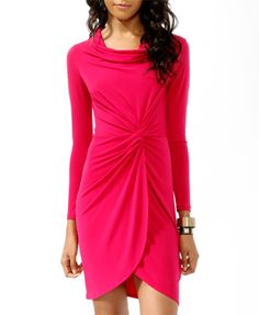 Magenta Knotted Sheath Dress, $19.80, forever21.com