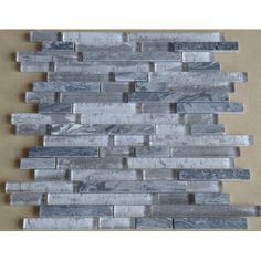 Found it at Wayfair - Parallel Random Sized Marble and Glass Mosaic Tile in Grey