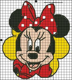 minnie cross stitch by syra1974.deviantart.com on @DeviantArt