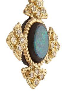 Gold Opal Cravelli Cross Earrings | Armenta | Avenue32.<31560.<3<3