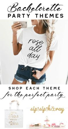Our top 5 Bachelorette Party Themes | Rosé All Day, Fiesta, Nautical, Flannels #bachelorette #party #bach #roseallday #bride #flannel #nautical #beach #wine #champagne #wine #tour #girls #trip