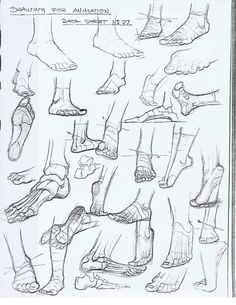 Academy of Art Character and Creature Design Notes: Foot Reference via PinCG.com